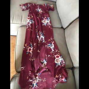 Lovely Off Shoulder maxi dress